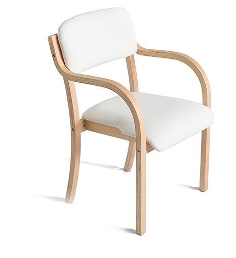 GXJ-stool Silla de Comedor Blanca, Alta Resistencia Esponja ...