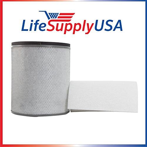 Filter Fits Austin Air HM-200 HM200 Air Purifier Filter fits HealthMate, HealthMate Jr with Prefilter - By LifeSupplyUSA