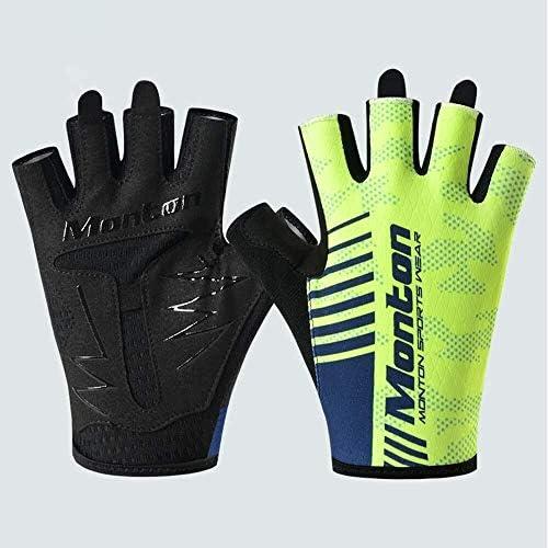 Mini gloves 自転車用乗馬グローブ軽量でウェアラブルなマウンテンバイクアクセサリー自転車男女兼用機器屋外用乗馬グローブ (Color : Fluorescent yellow, Size : S)
