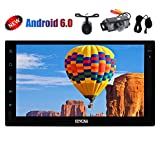 External Microphone! Dual Cameras Include Android Stereo Double din 7inch 6.0 Marshmallow GPS Navigation Car Player Multi-Touchscreen in Dash Autoradio Bluetooth Tablet Support WiFi/USB/SD Head Unit