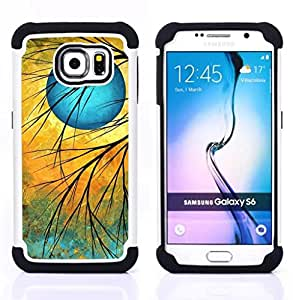 GIFT CHOICE / Defensor Cubierta de protección completa Flexible TPU Silicona + Duro PC Estuche protector Cáscara Funda Caso / Combo Case for Samsung Galaxy S6 SM-G920 // Twilight sign //