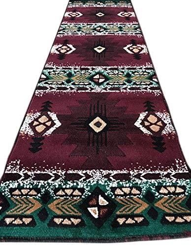 South West Native American Runner Area Rug Design C318 Burgundy (2 Feet X 7 Feet) (Chic Furniture Shabby Indonesia)