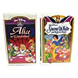 'Snow White and the Seven Dwarfs' and 'Alice in Wonderland' VHS Movie 2-pack