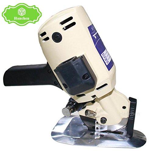 Hanchen YJ-110 Φ110mm 電動カッター 電気マルチツール 手持ち式切断機 裁縫機 厚手の布/レザー/合皮/雑材などを切る用に 切断厚み32mm (220V) 220V 220V B077X95X56