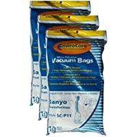 30 Sanyo Transformax Style SC-P11 Microfiltration Canister Vacuum Cleaner Bags
