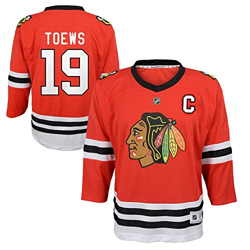 fan products of Jonathan Toews Chicago Blackhawks NHL Toddler Red Replica Player Jersey (Size 2T-4T)