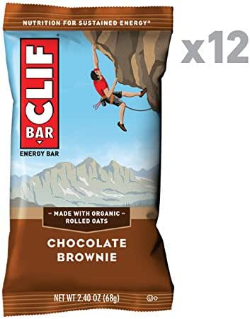 CLIF BAR - Energy Bars - Chocolate Brownie - (2.4 Ounce Protein Bars, 12 Count)