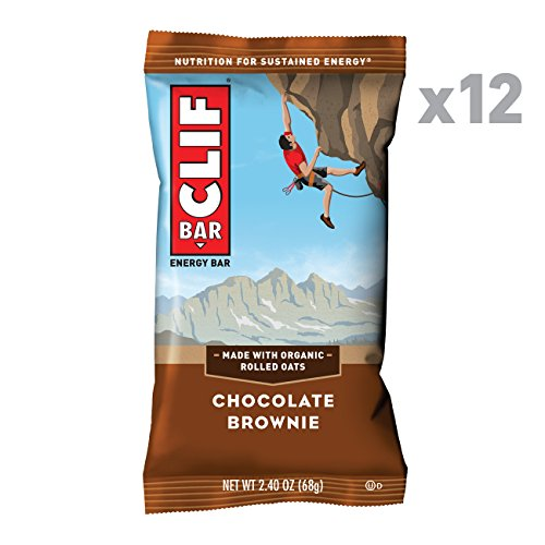 CLIF BAR - Energy Bars - Chocolate Brownie - (2.4 Ounce Protein Bars, 12 - Crunch Case