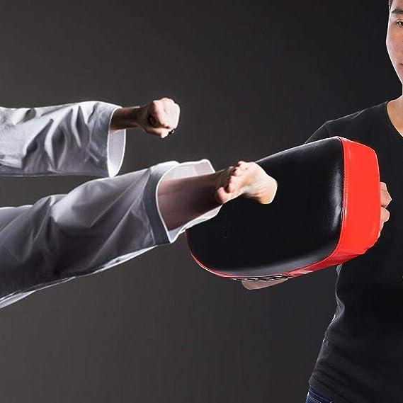 Unidad Individual Zyyini Objetivo de Boxeo Muay Thai Boxeo Patear Curva de la Almohadilla MMA Golpe de Escudo Entrenamiento Curvo Thai Pad Focus Target Boxeo Patadas de punzonado de Kick Kick