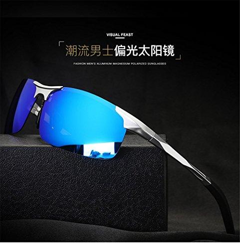 Magnium de verres lune demi bleus soleil CHshop Lunettes polarisées 0Zxq5UYww