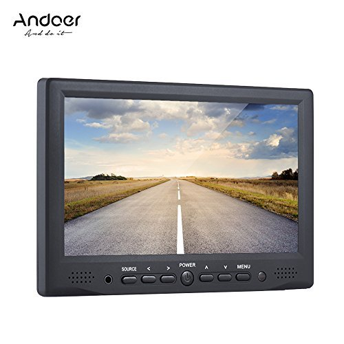 Andoer Digital Field Monitor HD LCD Display for or Canon Nikon Sony A7S/ A7S II/ A7R/ A7R II DSLR Camera Camcorder (HD 800x480) by Andoer