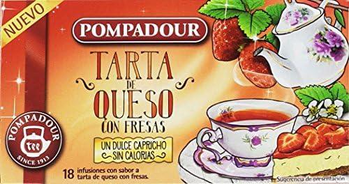 Pompadour Infusión Tarta de Queso con Fresas - Pack de 4 x 18 ...