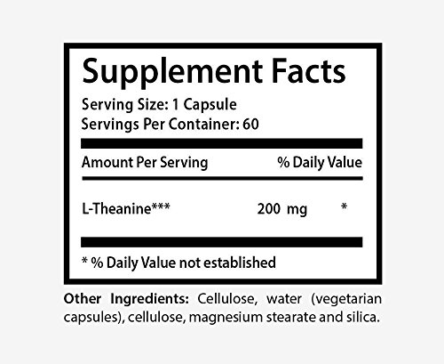 L-Theanine Promotes Relaxation Emotional Well-Being Healthy Mood 1 Bott Discount