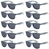 WHOLESALE UNISEX 80'S STYLE RETRO BULK LOT SUNGLASSES (Cool Gray, Smoke)