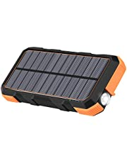 Solar Charger 26800mAh Hiluckey 18W Power Bank with 3.0A Outputs-Type-C Waterproof Battery Pack