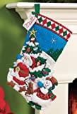 Bucilla 86440 Felt Applique Stocking Kit (16-Inch), Pick A Tree, , 16