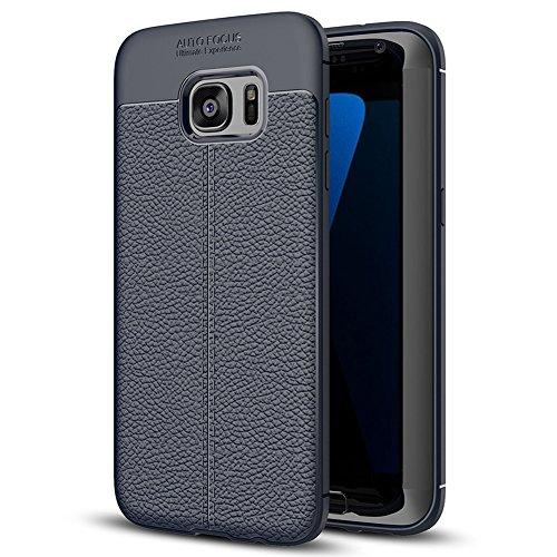 Samsung Galaxy S7 edge Hülle, MSVII® Anti-Shock Weich TPU Silikon Hülle Schutzhülle Case Und Displayschutzfolie für Samsung Galaxy S7 edge - Blau JY90027