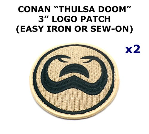 2 PCS Thulsa Doom Conan the Barbarian Movie Theme DIY Iron / Sew-on Decorative Applique (Thulsa Doom Costume)