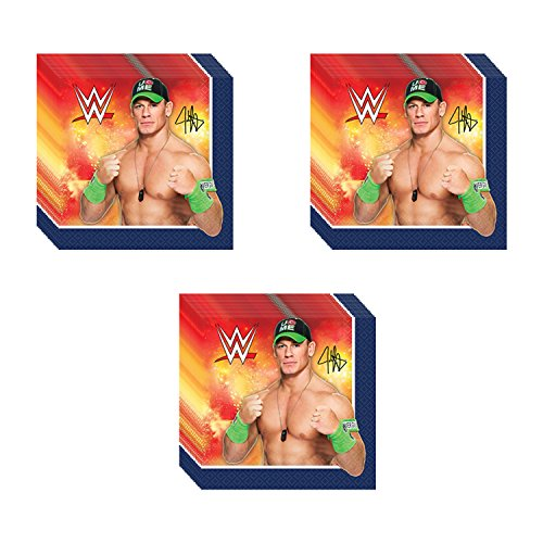 WWE Party Beverage Napkins - 48 Pieces by Pinatas