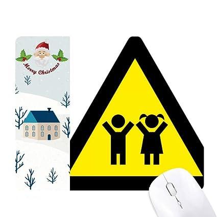 Amazon com : Warning Symbol Yellow Black Kids Triangle Santa