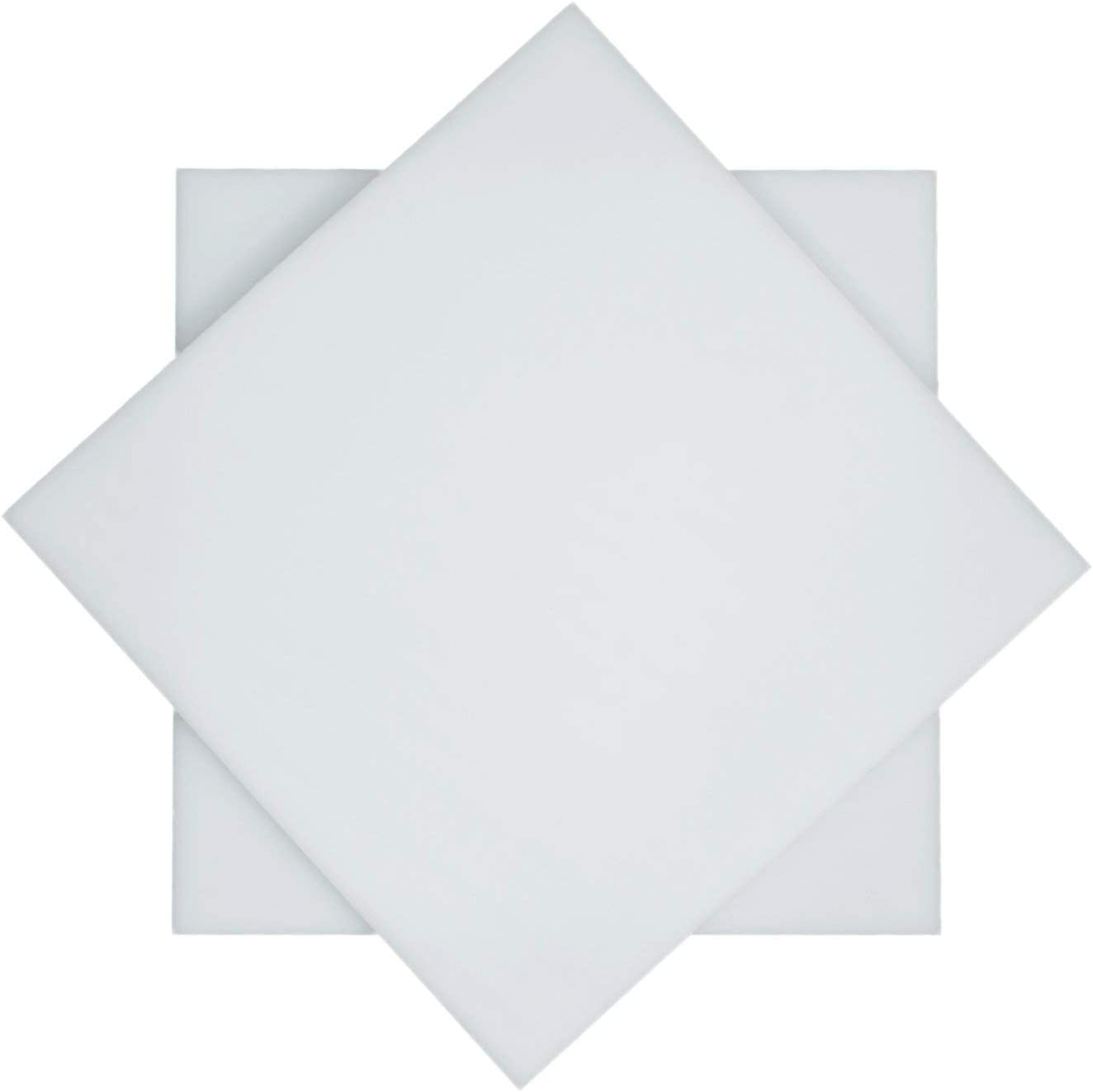 1//4 Inch Thick, 12 x 24 SOURCEONE.ORG Source One Premium UHMW Available in Every Size and Thickness,Opaque White Sheets Ultra High Molecular Weight Polyethylene