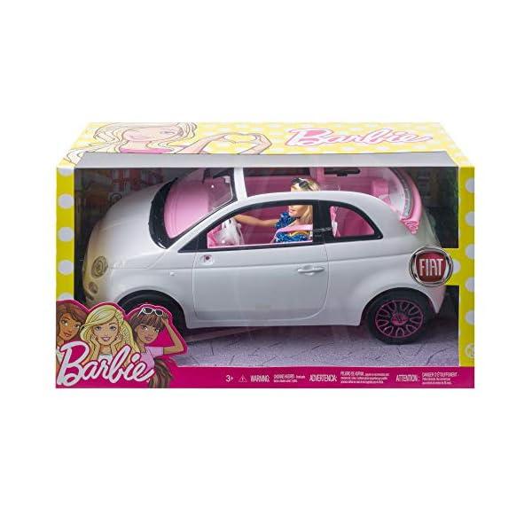 Barbie FVR07 Bambola con Fiat 500, Macchina con Dettagli Realistici, Portiere Apribili 7 spesavip
