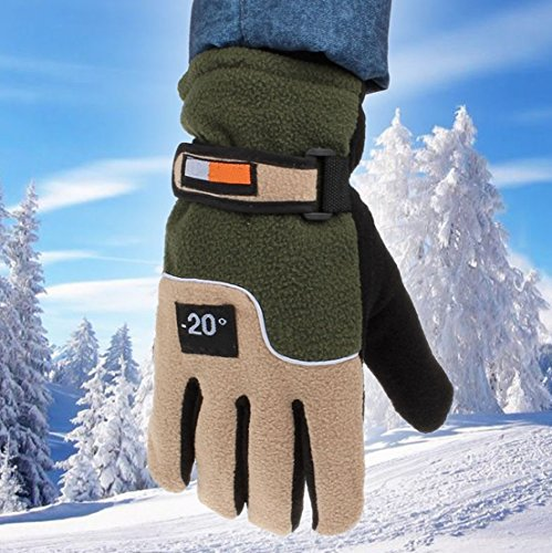 1 Set (1 Pair) Pre-eminent Popular Hots Men Thermal Warm Glove Wrist Driving Soft Feeling Touch Screen Color Green