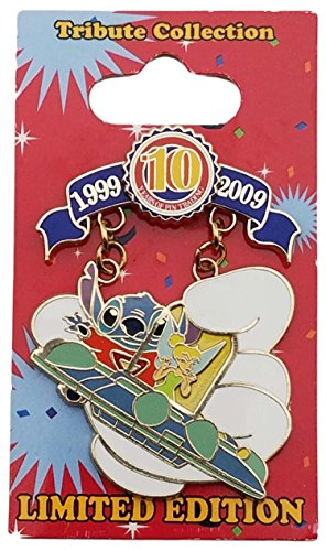 Disney Pin - WDW - Tribute Collection - Tink's Summer Pin Quest - Traveling Tink and Stitch - Tomorrowland