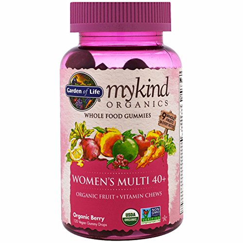 (Garden of Life, Mykind Organics, Women's Multi 40+, Organic Berry, 120 Gummy Drops)