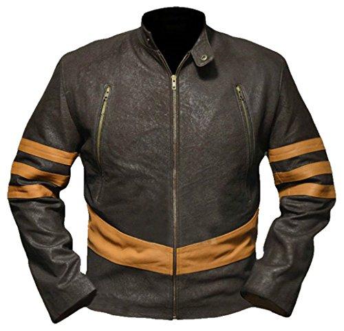Men's Brown Vintage Distressed Cafe Racer Original New Zealand Leather Jacket for Sale On Amazon (S)