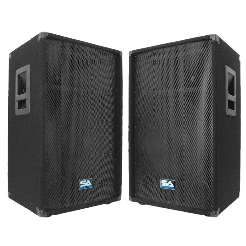 Seismic Audio - Pair of 15'' PA DJ Speakers 700 Watts PRO Audio - Mains, Monitors, Bands, Karaoke, Churches, Weddings by Seismic Audio