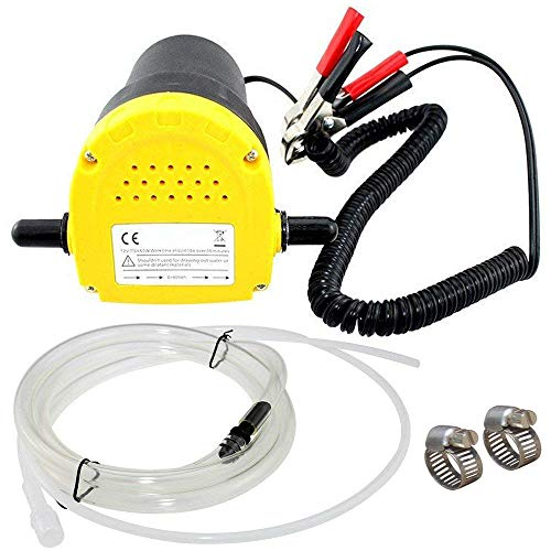 TOPEMAI 12V 60W Oil Diesel Fluid Pump Extractor Scavenge Suction Transfer Pump for Auto Car Boat Motorbike Truck RV ATV Jet with Hose