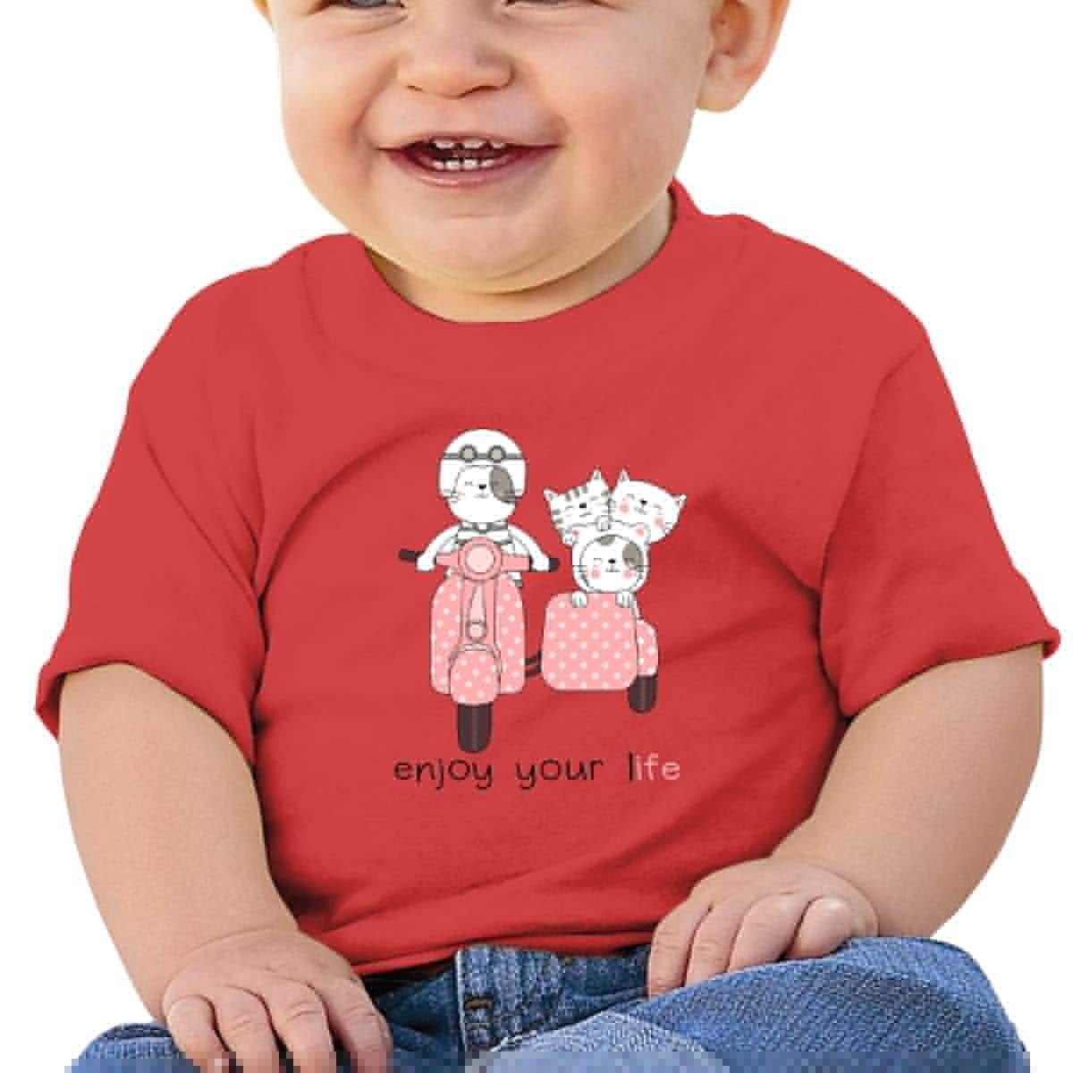 Toddler Short-Sleeve Cat Image Graphic Tees