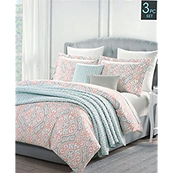 Amazon Com Cynthia Rowley Bedding 3 Piece Full Queen