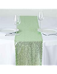TRLYC 12 By 108 Inch Mint Sequin Tablerunner For Wedding/Party