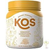 KOS Organic Cordyceps Powder – Premium Raw Cordyceps Mushroom Powder USDA Vegan Plant Based Ingredient, 350g (12.35oz) For Sale
