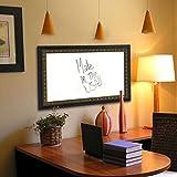 "Rayne Mirrors American Made Traditional Cameo Blackboard/Chalkboard, 22"" X 76"""", Dark Brown/Bronze Finish"