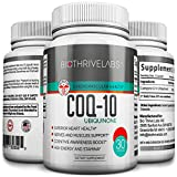 Bio Thrive Labs® High Efficiency COQ10 Supplement Pills – Coenzyme Q10 Capsules with 200mg of Pure Ubiquinone Protect Your Heart, Raise Energy Levels, Alleviate Pain and Improve Blood Pressure with No Side Effects! Review