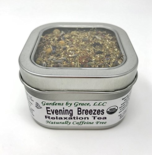 Organic Loose Leaf Sampler | Calming Herbal Teas for Relaxation, Stress Relief, Peaceful, Restful Sleep | Ease Mind, Body Tension| Assorted Gift Set, 4 Tins, 2 Infusers