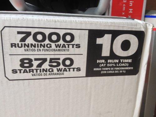 Black Max 7000 / 8750 Watt Portable Generator BM907000