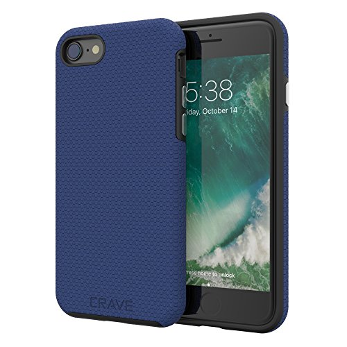 iPhone 8 Case, iPhone 7 Case, Crave Dual Guard Protection Series Case for Apple iPhone 8/7 (4.7 Inch) - Navy