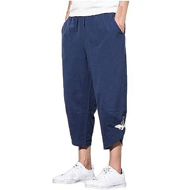 VPASS Pantalones Hombre, Verano Casual Suelto Tallas Grandes ...