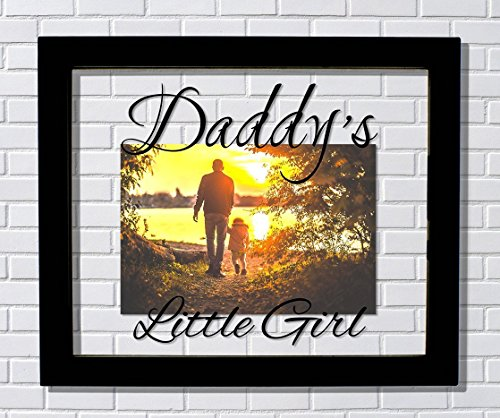 Daddy's Little Girl Frame - Floating Frame - Photo Picture Frame - Father Gift Father's Day Dada Daddy - Little Daddys Frame Girl