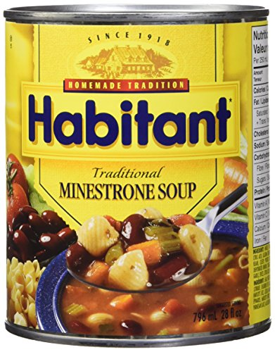 Habitant Traditional Minestrone Soup, 796ml - Imported from Canada