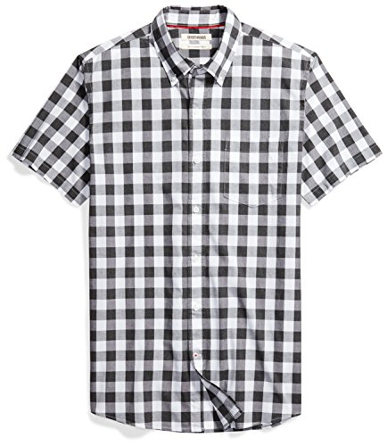 Goodthreads Men's Slim-Fit Short-Sleeve Gingham Plaid Poplin