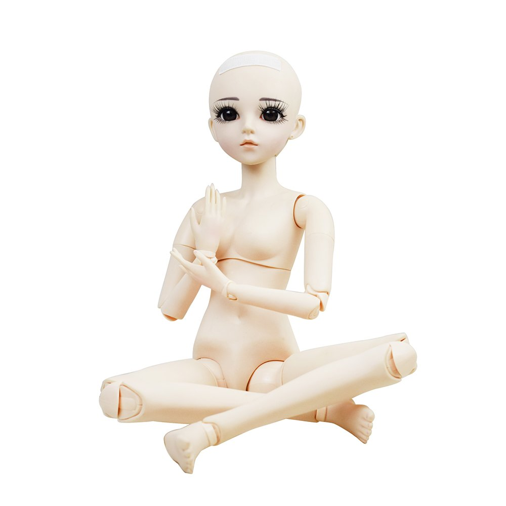 Naked 1//3 BJD Doll 56cm 22 DIY Nude Jointed Dolls