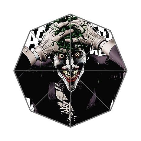 Custom el gracioso payasos Horrible Joker plegable paraguas único paraguas de deporte: Amazon.es: Jardín