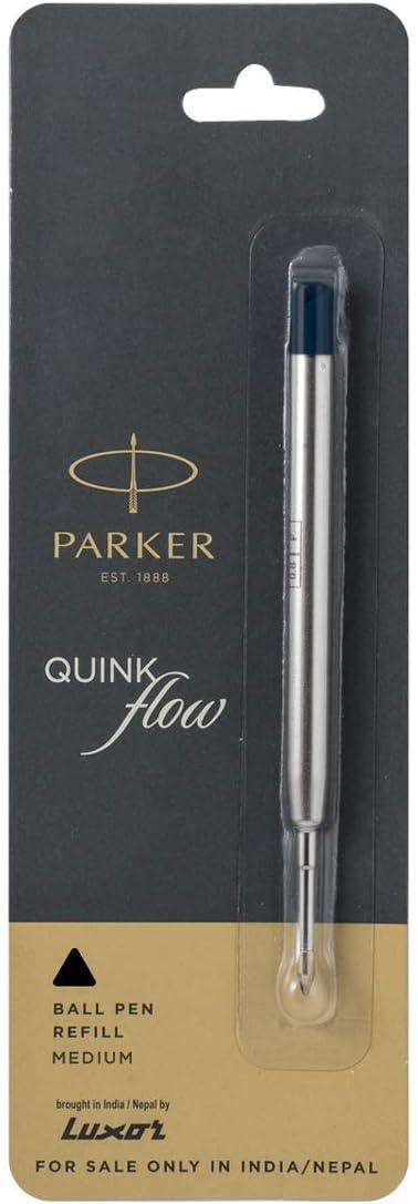 5 TERZETTI BLACK BALLPOINT REFILLS-MEDIUM METAL BODY+free PEN fit PARKER pen