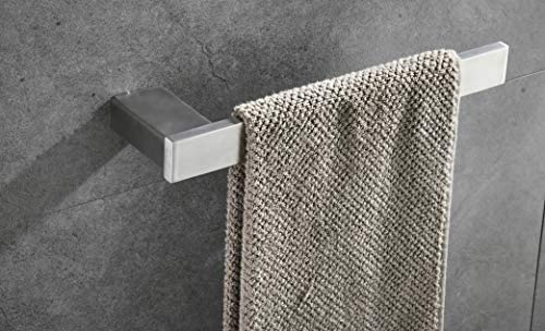 BTH207DG-2 KES Adjustable Double Towel Bar 14 to 24 Inch No Drill Bathroom Extendable Towel Rail Holder Rack SUS304 Stainless Steel Wall Mount Brushed Finish
