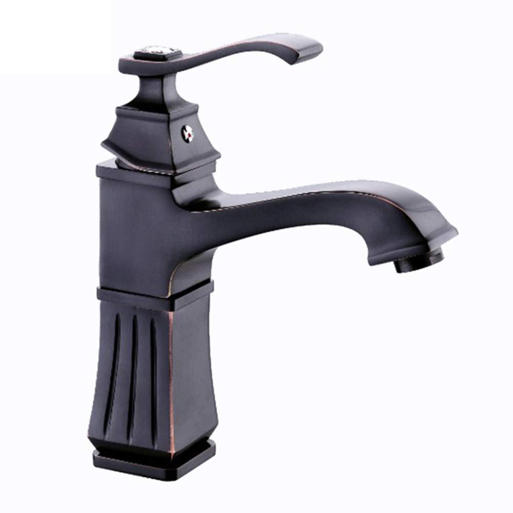 B DeLongKe Bathroom Faucet Toilet Sink Faucet Copper Black Faucet European Hot And Cold Water Mixer Wholesale,B